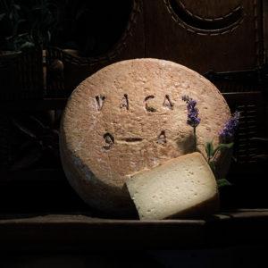 Queso de vaca curado elaborado en la quesería Río Deva